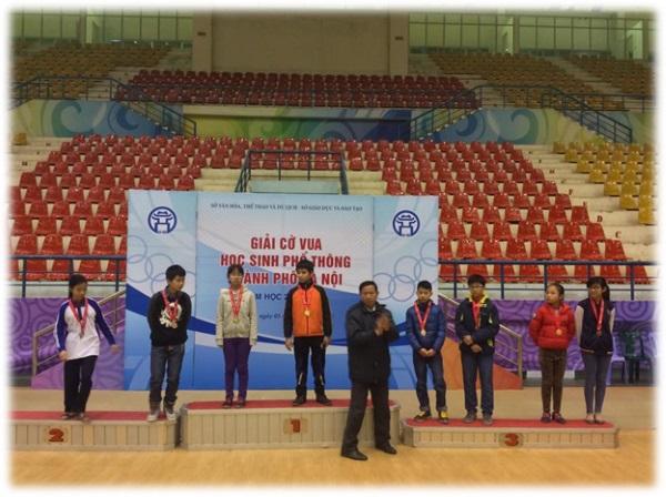 Học sinh Nguyễn Tất Thành tham dự Giải Cờ vua học sinh phổ thông TP Hà Nội