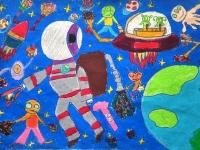 Ngắm 'Hành tinh trong mơ 2016' qua tranh vẽ của học sinh trường Nguyễn Tất Thành