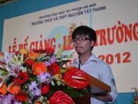 Bài phát biểu của học sinh lớp 12 trong ngày bế giảng năm học 2011 - 2012