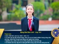 Chân dung học sinh nhận Học bổng Nguyễn Tất Thành lần thứ 40 – Khối 7 - Học kì I năm học 2020 – 2021