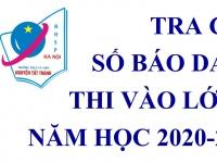 Hướng dẫn xem số báo danh kì thi vào lớp 10 năm học 2020 - 2021