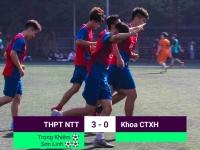 Trường THCS & THPT Nguyễn Tất Thành 3-0 Khoa Công tác Xã hội: Khởi đầu như mơ