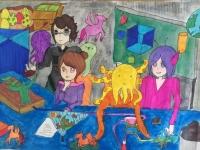Chuyến du hành vào vũ trụ cùng những họa sĩ nhí tương lai