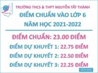 Thông báo kết quả KTĐGNL, điểm chuẩn và nhập học vào lớp 6 năm học 2021-2022