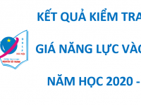 Kết quả kiểm tra đánh giá năng lực vào lớp 6 năm học 2020-2021