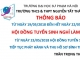 Lịch làm việc của Hội đồng tuyển sinh trường THCS & THPT Nguyễn Tất Thành